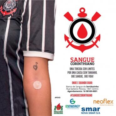 Campanha Sangue Corinthiano acontece a partir do dia 12, em Sertãozinho