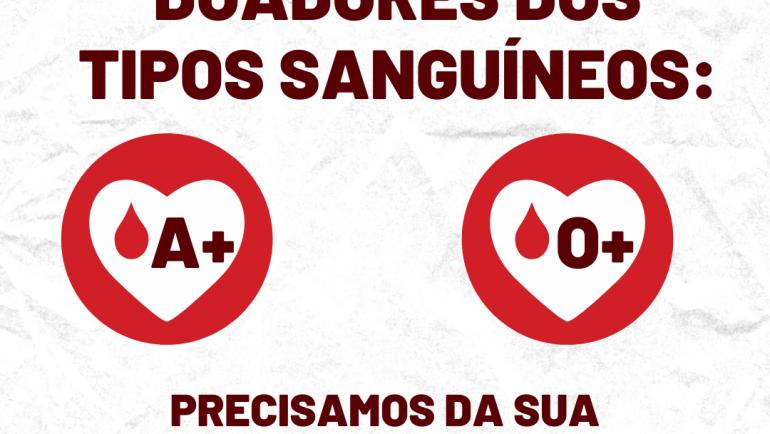 Banco de Sangue de Sertãozinho necessita com urgência de doações dos tipos O e A positivos