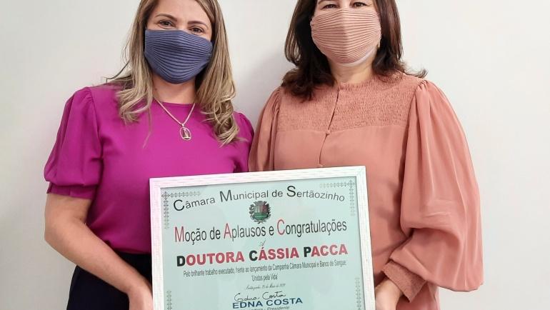 Banco de Sangue recebe homenagem da Câmara Municipal de Sertãozinho
